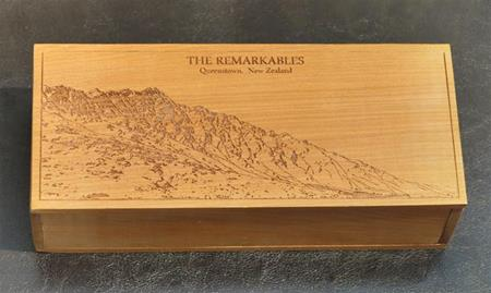 Remarkables Kauri Hinged Box by Peter Dozzi