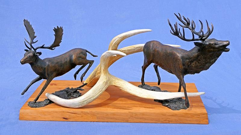 Multiple Deer with Antler Mount