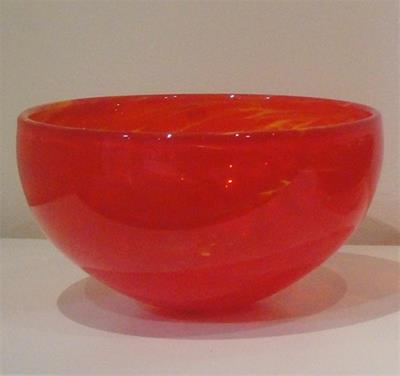 Monet Bowl - Vermillion/Yellow by Ron van der Vlugt
