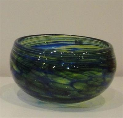 Monet Bowl- Cobalt/Lime by Ron van der Vlugt