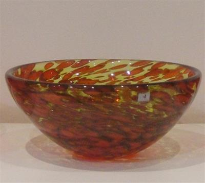 Monet Bowl- Orange/Lime by Ron van der Vlugt