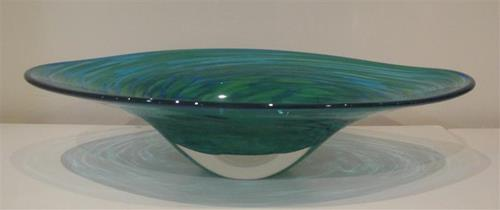Oval Bowl Granny Smith/Aqua by Ron van der Vlugt