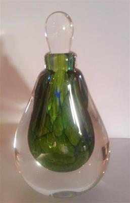 Perfume Bottle Cobalt Lime by Ron van der Vlugt