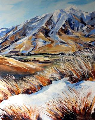 Spring Snow in the Cardrona Valley by Jane Sinclair
